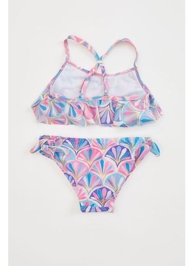 DeFacto Kız Çocuk Baskılı Bikini Takım Mor